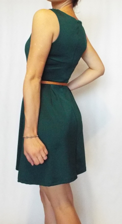 Rochie casual verde fara maneci- Green Dress2