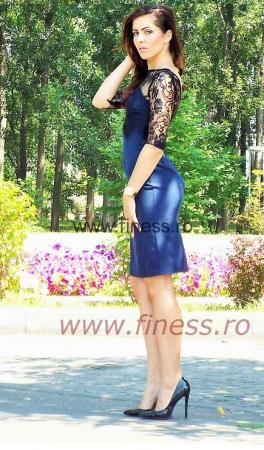 Rochie dama stofa si dantela-Magdalena3