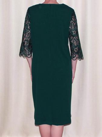 Rochie de seara cu maneca trei sferturi - Catalina Verde1