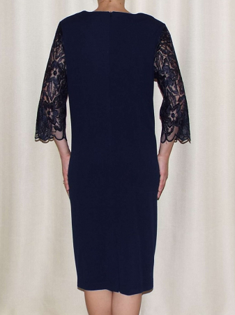 Rochie de seara din crep si dantela - Catalina Bleumarin1