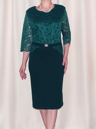 Rochie de seara din dantela si crep - Cecilia Verde [1]