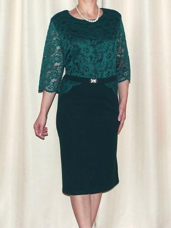 Rochie de seara din dantela si crep - Cecilia Verde [0]