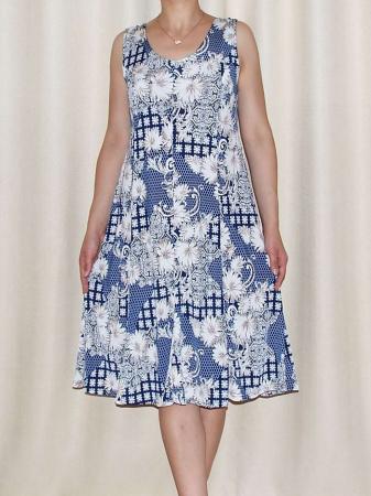 Rochie de vara cu imprimeu floral si bretele - Romina 20