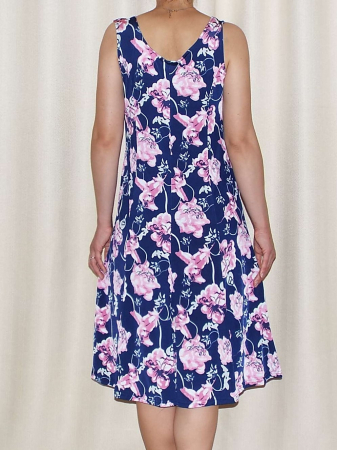 Rochie de vara cu imprimeu floral si decolteu rotund - Romina 6 [1]