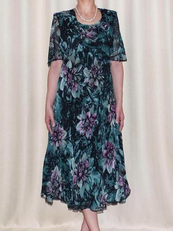 Rochie de vara din voal cu brosa detasabila – Victoria Verde0