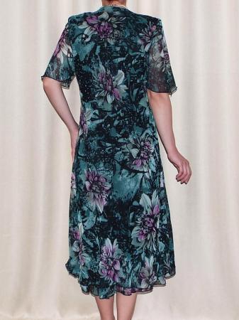 Rochie de vara din voal cu brosa detasabila – Victoria Verde1