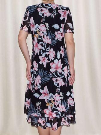Rochie de vara din voal cu brosa nedetasabila - Alexandra Floral [1]