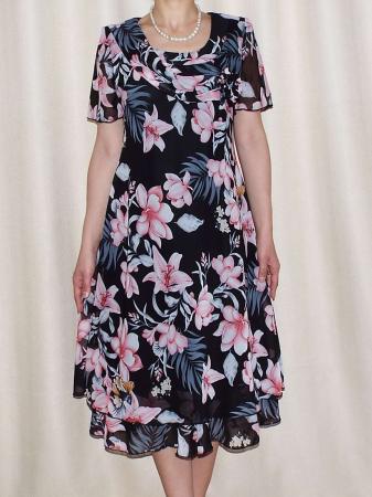 Rochie de vara din voal cu brosa nedetasabila - Alexandra Floral [0]