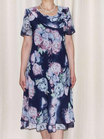 Rochie de vara din voal cu imprimeu floral  - Alexandra 14 [0]