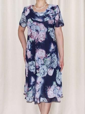 Rochie de vara din voal cu imprimeu floral  - Alexandra 14 [2]