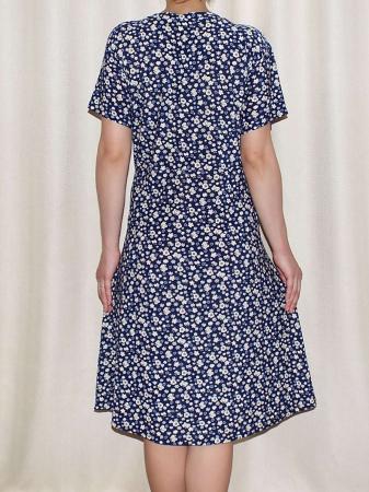 Rochie de zi cu buzunare si maneca scurta - Miriam 72