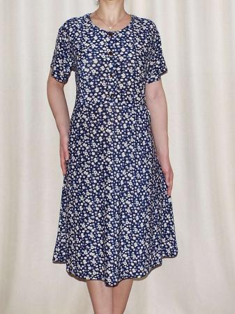 Rochie de zi cu buzunare si maneca scurta - Miriam 70