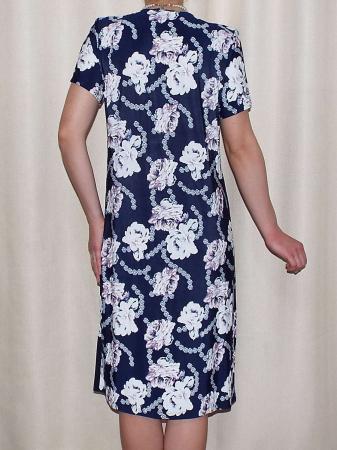 Rochie de zi cu imprimeu floral si maneca scurta - Malvina1