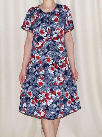 Rochie de zi cu imprimeu floral si maneca scurta - Miriam 10