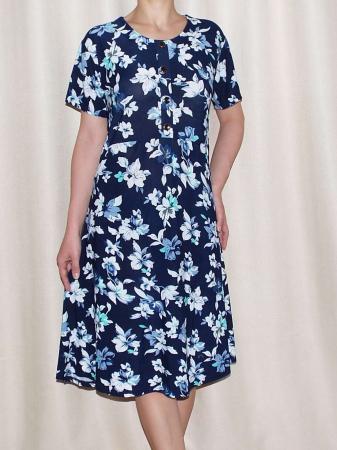 Rochie de zi cu imprimeu floral si maneca scurta - Miriam 80