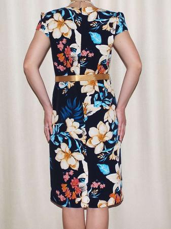 Rochie de zi cu imprimeu si maneca scurta - Alina Bleumarin1