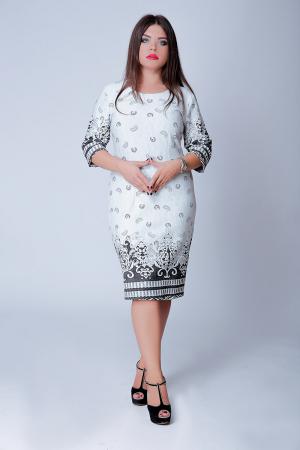 Rochie de zi cu imprimeu si maneca trei sferturi - Ariana0
