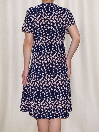 Rochie de zi cu imprimeu si nasturi la piept - Miriam 52