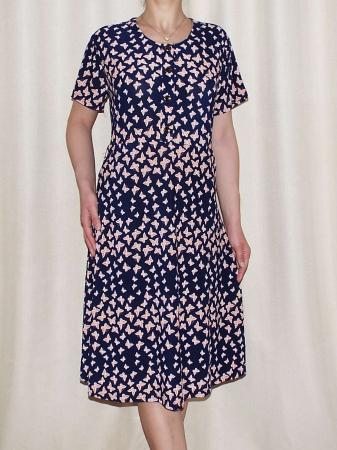 Rochie de zi cu imprimeu si nasturi la piept - Miriam 50