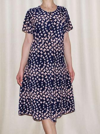 Rochie de zi cu imprimeu si nasturi la piept - Miriam 51