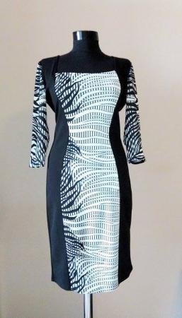 Rochie de zi din jerse cu maneca trei sferturi - Anais1