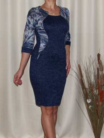 Rochie de zi din tricot cu maneca trei sferturi - Lorena 20