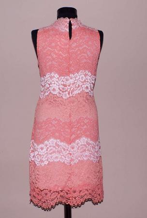 Rochie din dantela roz cu croi lejer - Dalia1