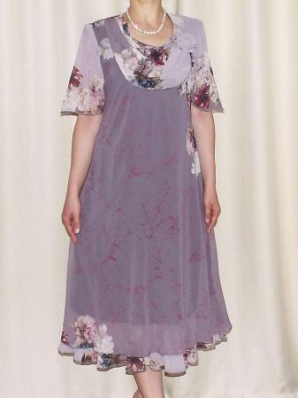 Rochie din voal cu maneca scurta si imprimeu floral - Victoria 10 [2]