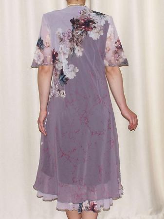 Rochie din voal cu maneca scurta si imprimeu floral - Victoria 10 [1]