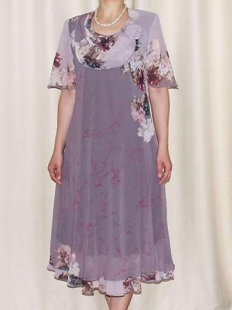 Rochie din voal cu maneca scurta si imprimeu floral - Victoria 10 [0]