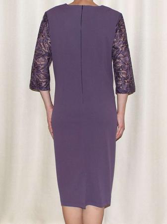 Rochie eleganta cu maneca trei sferturi - Catalina Mov1