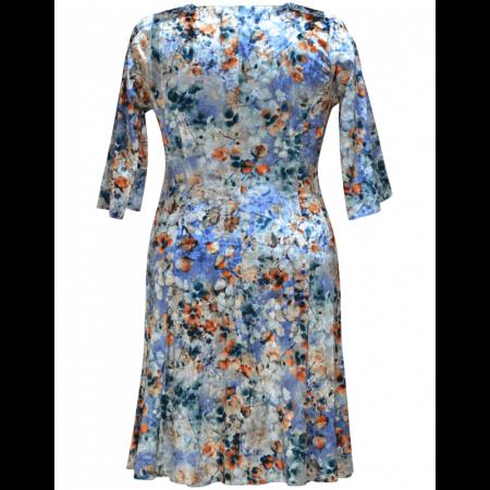 Rochie eleganta din catifea cu imprimeu floral - Dalia Gri1