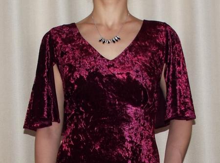 Rochie eleganta din catifea cu maneca scurta - Agnes2