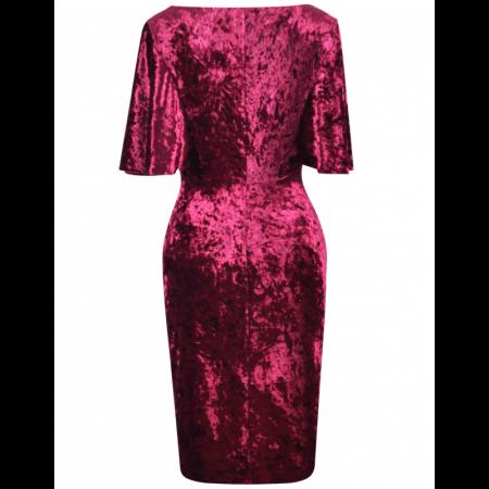 Rochie eleganta din catifea cu maneca scurta - Agnes3