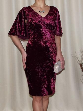 Rochie eleganta din catifea cu maneca scurta - Agnes0