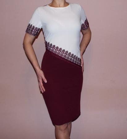 Rochie eleganta din crep cu terminatii din dantela - Eliza0
