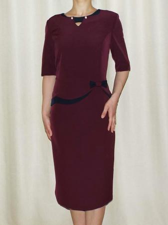 Rochie eleganta din stofa cu decupaj - Luiza Bordo0