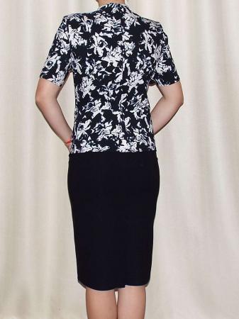 Rochie eleganta din stofa cu maneca scurta - Olivia Negru1