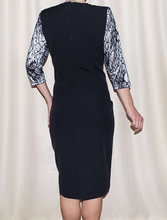 Rochie eleganta din stofa si dantela - Dorina Negru1