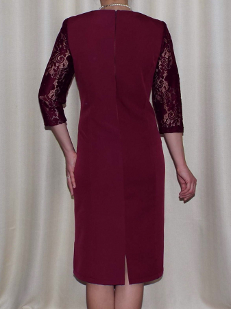 Rochie eleganta din stofa si dantela - Flavia Grena1
