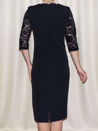 Rochie eleganta din stofa si dantela - Octavia Negru2