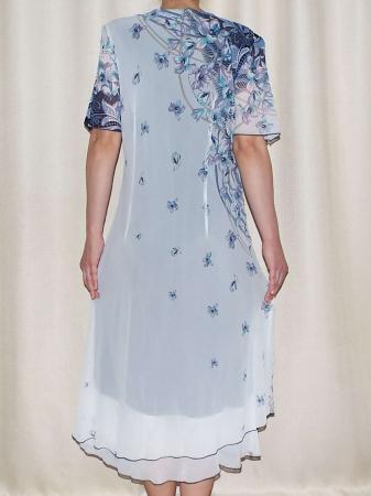 Rochie eleganta din voal cu brosa detasabila - Helen1