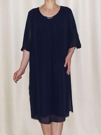 Rochie eleganta din voal cu maneca scurta - Ileana Bleumarin0
