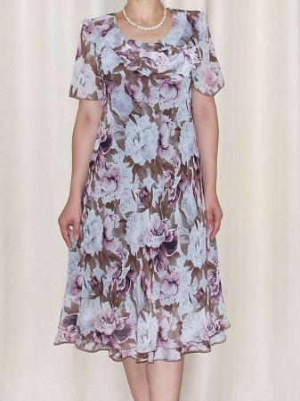Rochie eleganta din voal imprimat - Alexandra 16 [0]