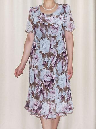 Rochie eleganta din voal imprimat - Alexandra 16 [2]