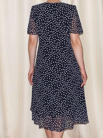 Rochie eleganta din voal negru cu buline albe - Alexandra 2 [1]