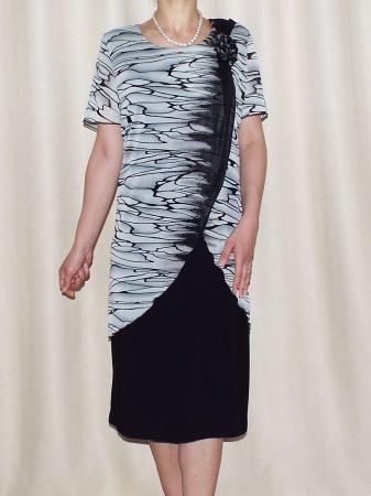 Rochie eleganta din voal si vascoza - Ruxandra Negru0