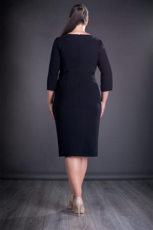 Rochie eleganta neagra cu dantela macrame grena - Jordan1