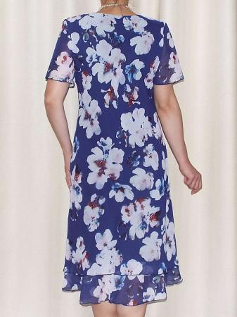Rochie lejera din voal cu imprimeu floral - Alexandra 17 [2]