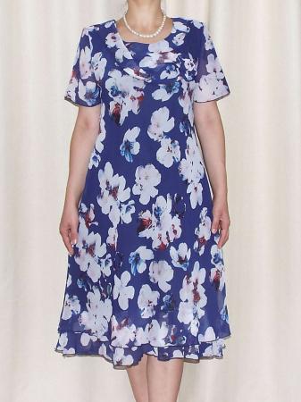 Rochie lejera din voal cu imprimeu floral - Alexandra 17 [1]